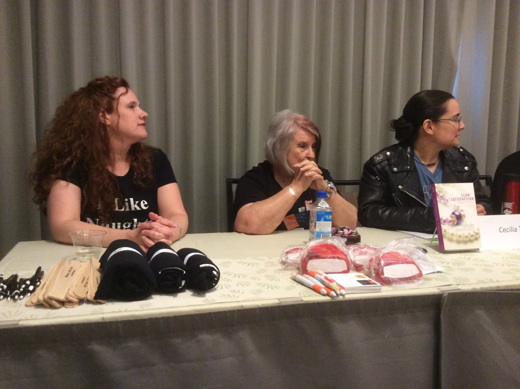 A steamy hot panel with Annabel Joseph, Desiree Holt & Cecilia Tan Authors after Dark 2014